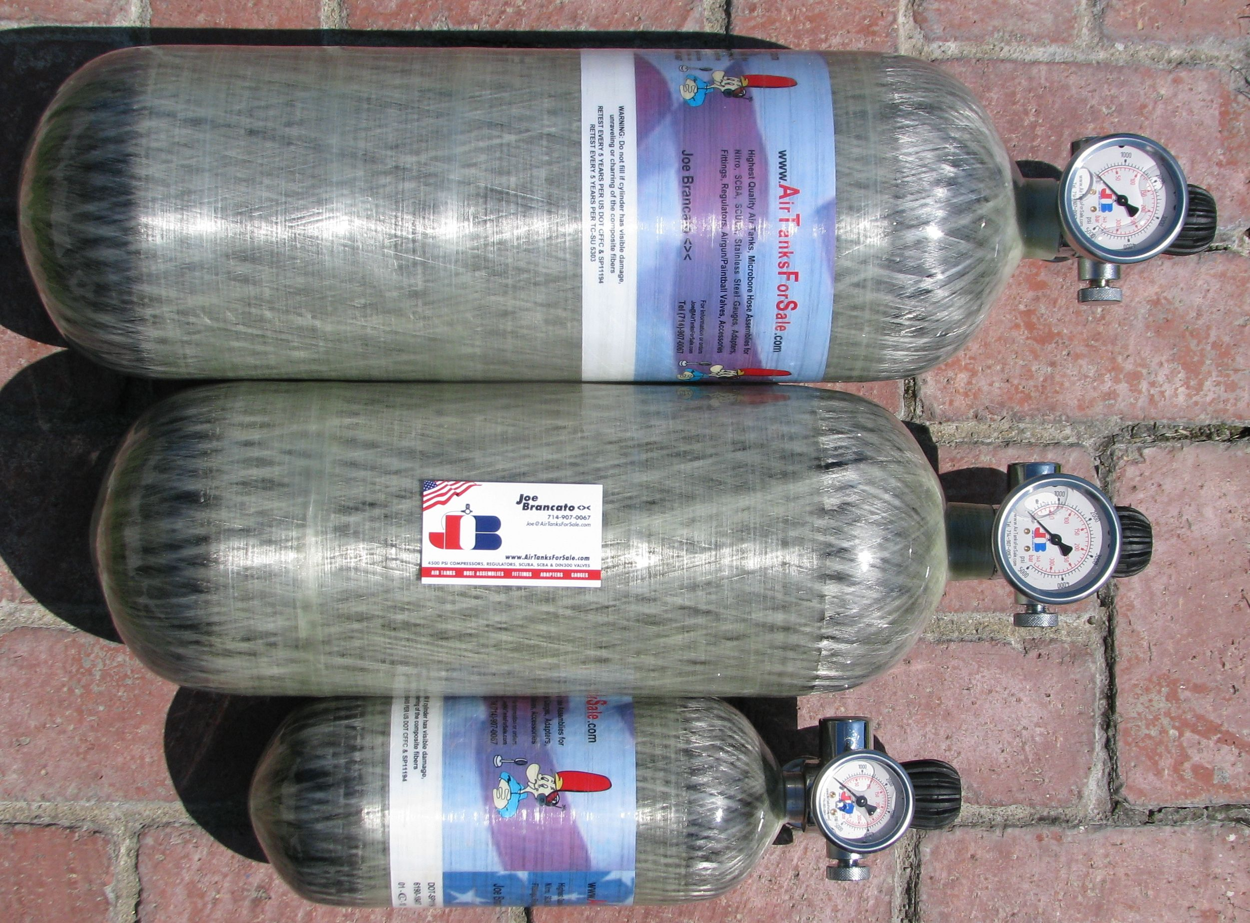 Air Tanks For Sale Discounts for PCP (Pre-Compressed