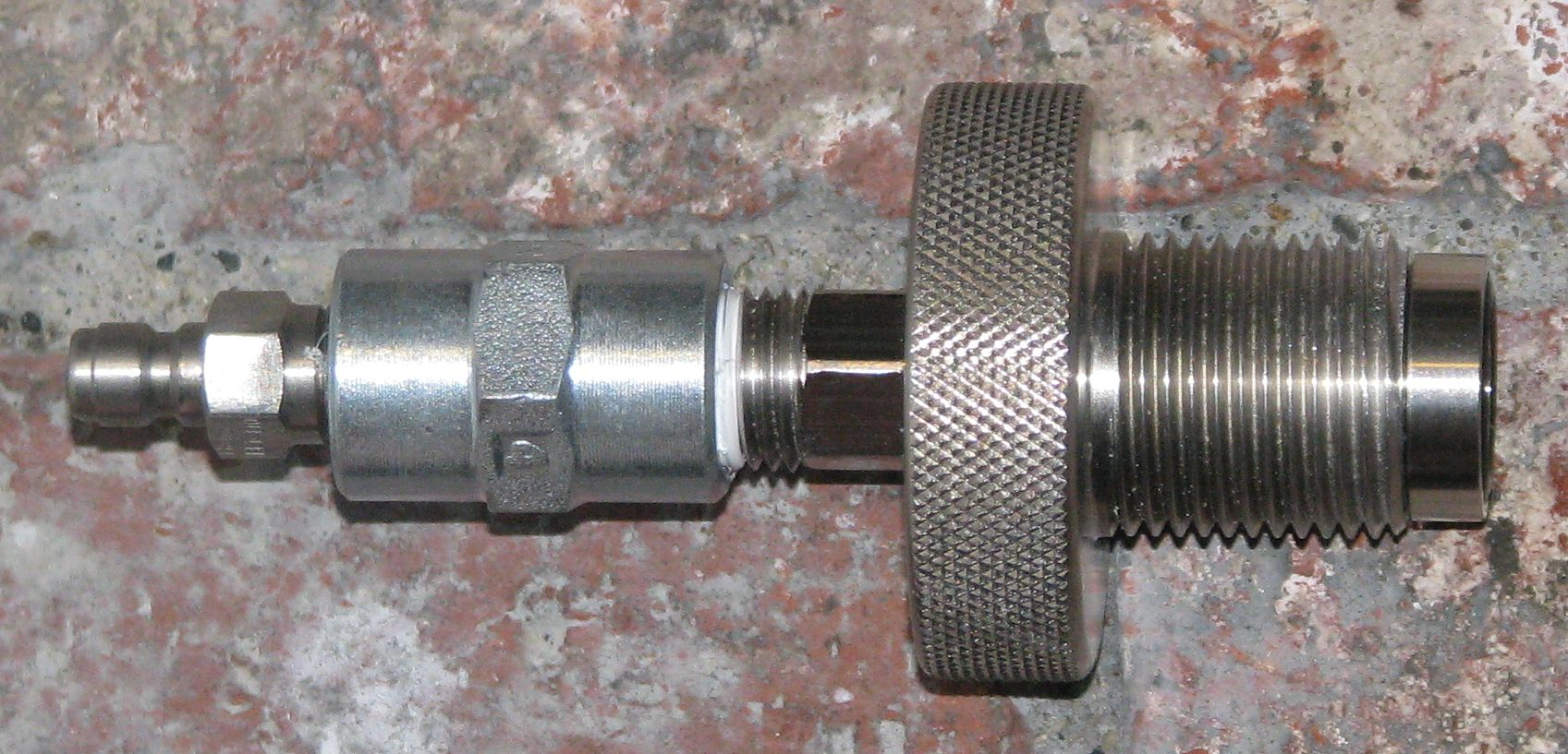 Scba microbore hose ass y all stainless steel fittings for